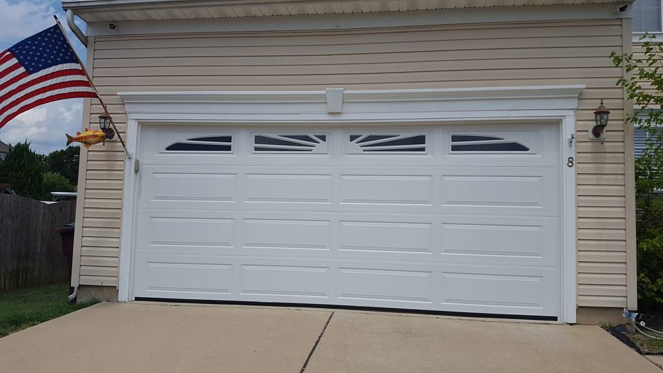 Haas 600 Series, Model 670 Garage Door With Sunset Windows