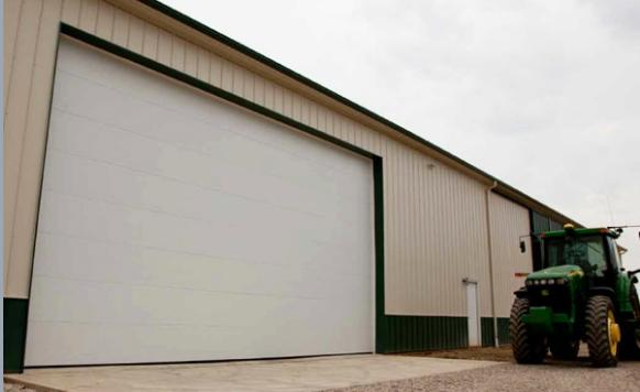 insulated commercial garage door